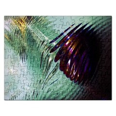 Out Of Time Glass Pearl Flowag Rectangular Jigsaw Puzzl