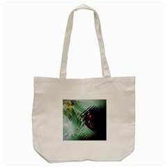 Out Of Time Glass Pearl Flowag Tote Bag (cream)