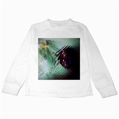 Out Of Time Glass Pearl Flowag Kids Long Sleeve T Shirts