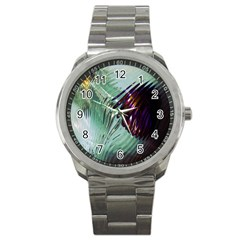 Out Of Time Glass Pearl Flowag Sport Metal Watch
