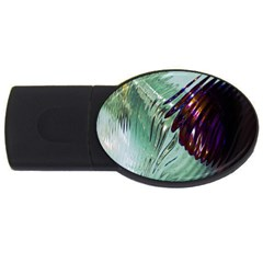 Out Of Time Glass Pearl Flowag Usb Flash Drive Oval (4 Gb)