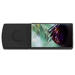 Out Of Time Glass Pearl Flowag USB Flash Drive Rectangular (4 GB)