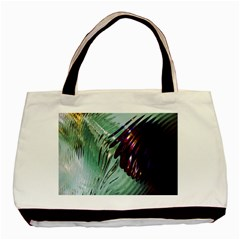 Out Of Time Glass Pearl Flowag Basic Tote Bag