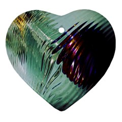 Out Of Time Glass Pearl Flowag Heart Ornament (two Sides)