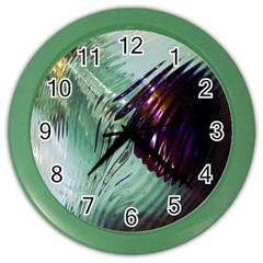 Out Of Time Glass Pearl Flowag Color Wall Clocks