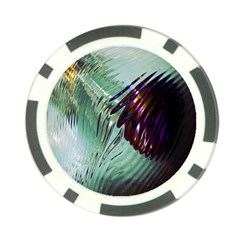 Out Of Time Glass Pearl Flowag Poker Chip Card Guard
