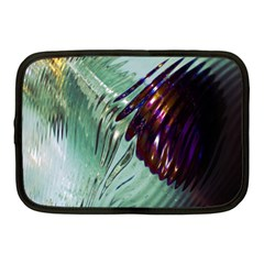 Out Of Time Glass Pearl Flowag Netbook Case (Medium)