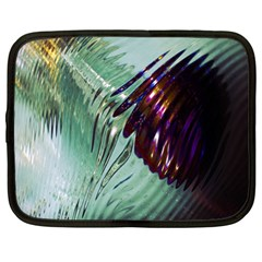 Out Of Time Glass Pearl Flowag Netbook Case (Large)