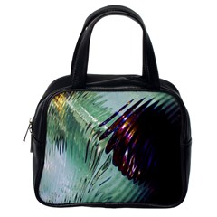 Out Of Time Glass Pearl Flowag Classic Handbags (one Side)