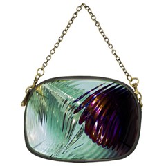 Out Of Time Glass Pearl Flowag Chain Purses (one Side)