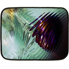 Out Of Time Glass Pearl Flowag Double Sided Fleece Blanket (Mini)