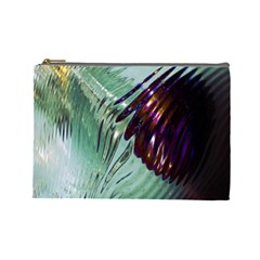 Out Of Time Glass Pearl Flowag Cosmetic Bag (Large)