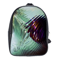 Out Of Time Glass Pearl Flowag School Bags(large)