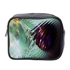 Out Of Time Glass Pearl Flowag Mini Toiletries Bag 2-Side