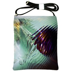 Out Of Time Glass Pearl Flowag Shoulder Sling Bags