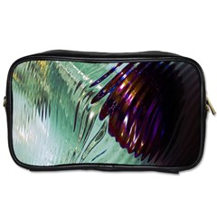 Out Of Time Glass Pearl Flowag Toiletries Bags 2 Side