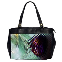 Out Of Time Glass Pearl Flowag Office Handbags (2 Sides)