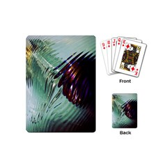 Out Of Time Glass Pearl Flowag Playing Cards (Mini)