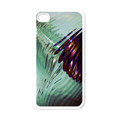 Out Of Time Glass Pearl Flowag Apple iPhone 4 Case (White)