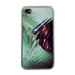 Out Of Time Glass Pearl Flowag Apple iPhone 4 Case (Clear)
