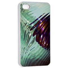 Out Of Time Glass Pearl Flowag Apple Iphone 4/4s Seamless Case (white)