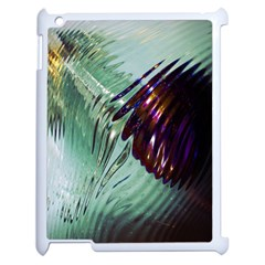 Out Of Time Glass Pearl Flowag Apple iPad 2 Case (White)