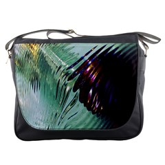 Out Of Time Glass Pearl Flowag Messenger Bags