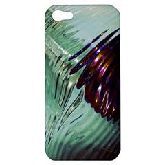 Out Of Time Glass Pearl Flowag Apple Iphone 5 Hardshell Case