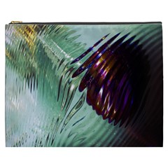 Out Of Time Glass Pearl Flowag Cosmetic Bag (XXXL)