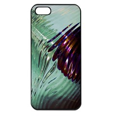 Out Of Time Glass Pearl Flowag Apple iPhone 5 Seamless Case (Black)