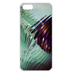 Out Of Time Glass Pearl Flowag Apple iPhone 5 Seamless Case (White)