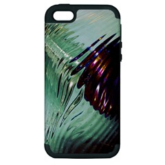 Out Of Time Glass Pearl Flowag Apple iPhone 5 Hardshell Case (PC+Silicone)