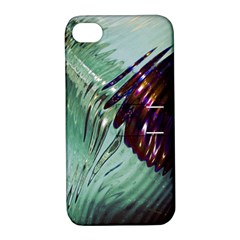 Out Of Time Glass Pearl Flowag Apple Iphone 4/4s Hardshell Case With Stand