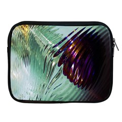 Out Of Time Glass Pearl Flowag Apple Ipad 2/3/4 Zipper Cases
