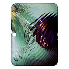 Out Of Time Glass Pearl Flowag Samsung Galaxy Tab 3 (10 1 ) P5200 Hardshell Case
