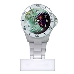 Out Of Time Glass Pearl Flowag Plastic Nurses Watch