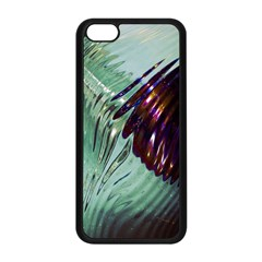 Out Of Time Glass Pearl Flowag Apple Iphone 5c Seamless Case (black)