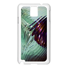 Out Of Time Glass Pearl Flowag Samsung Galaxy Note 3 N9005 Case (White)