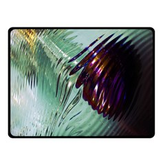 Out Of Time Glass Pearl Flowag Double Sided Fleece Blanket (Small)