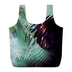 Out Of Time Glass Pearl Flowag Full Print Recycle Bags (L)