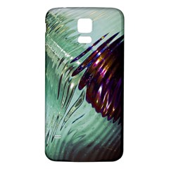 Out Of Time Glass Pearl Flowag Samsung Galaxy S5 Back Case (white)