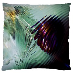 Out Of Time Glass Pearl Flowag Large Flano Cushion Case (two Sides)