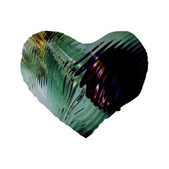 Out Of Time Glass Pearl Flowag Standard 16  Premium Flano Heart Shape Cushions