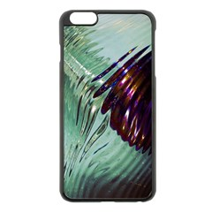 Out Of Time Glass Pearl Flowag Apple iPhone 6 Plus/6S Plus Black Enamel Case