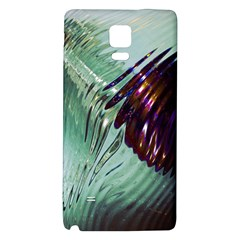 Out Of Time Glass Pearl Flowag Galaxy Note 4 Back Case