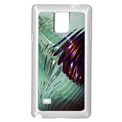 Out Of Time Glass Pearl Flowag Samsung Galaxy Note 4 Case (white)
