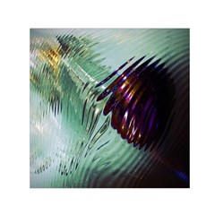 Out Of Time Glass Pearl Flowag Small Satin Scarf (Square)