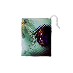 Out Of Time Glass Pearl Flowag Drawstring Pouches (XS)