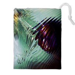 Out Of Time Glass Pearl Flowag Drawstring Pouches (XXL)