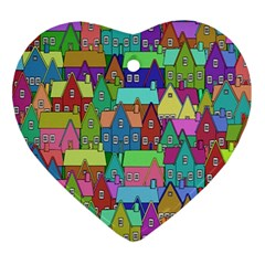 Neighborhood In Color Ornament (heart)